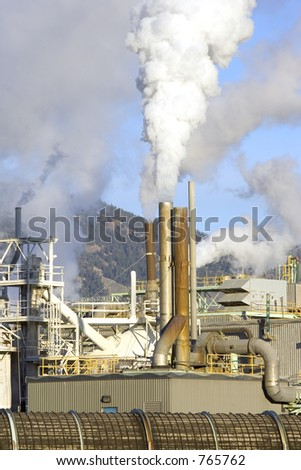 Smokestacks of a factory
