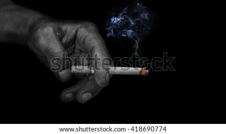 "Smoking a waste of money and bad health ""World No Tobacco Day""./made to concept"