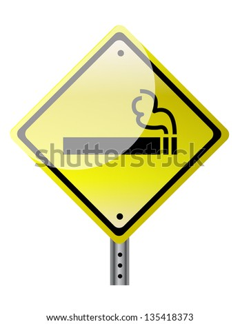 smoking ahead illustration design over a white background