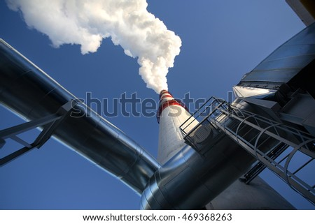 Smoking chimney pollution air