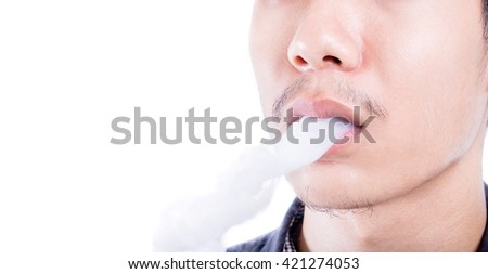 Smoking close up