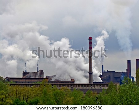 Smoking factory in Ostrava region in Czech Republic