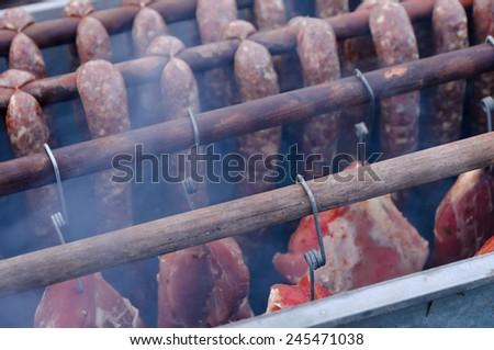 Smoking oven - stock photo