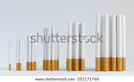 smoking population growth - stock photo