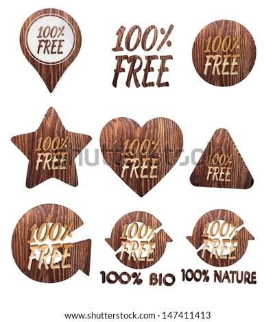 Smoky Black 100 Percent Free Label Stock Illustration 147411413