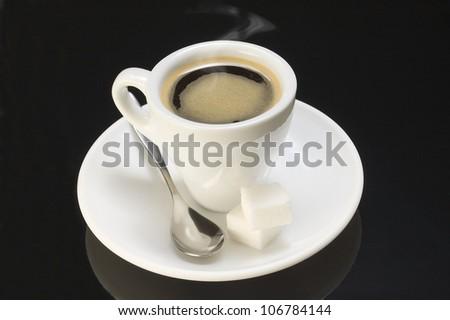 Smoky coffee - stock photo