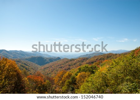 Smoky Mountain Fall Foliage - stock photo