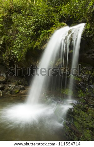 Smoky Mountain Waterfall - stock photo