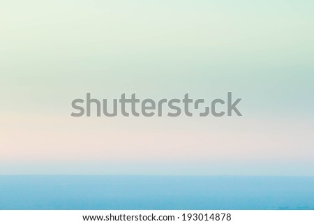 Smooth abstract gradient textured background bright mint green color.  Defocused abstract texture background, horizont, sea and sky.  - stock photo