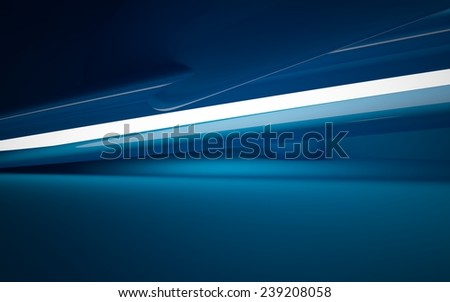 smooth blue interior - stock photo