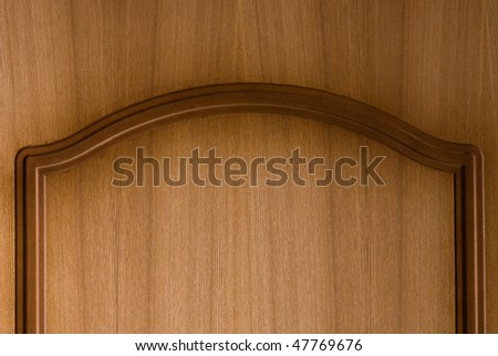 Smooth brown surface of wooden furniture - stock photo