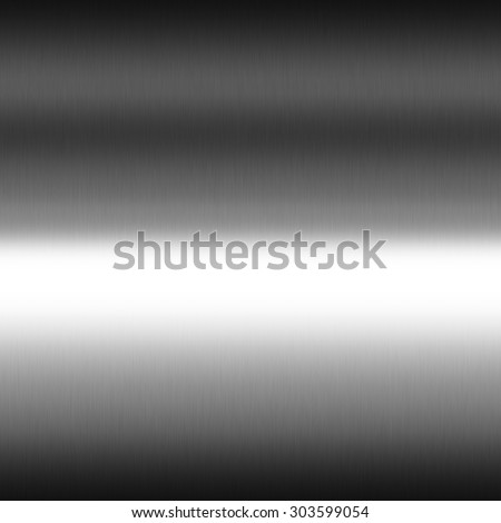 smooth chrome metal texture seamless gradient background, black and white horizontal stripes of light - stock photo
