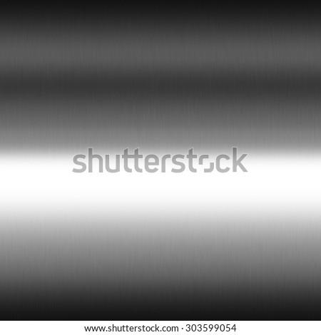 smooth chrome metal texture seamless gradient background, black and white horizontal stripes of light - stock photo