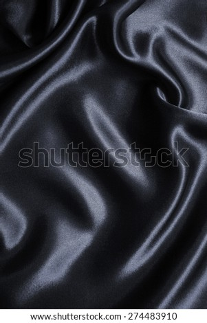 Smooth elegant dark grey silk or satin can use as background  - stock photo