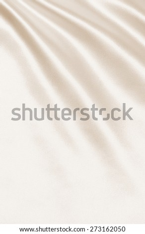 Smooth elegant golden silk or satin can use as wedding background. In Sepia toned. Retro style - stock photo