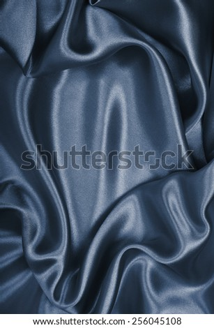 Smooth elegant grey silk can use as background  - stock photo