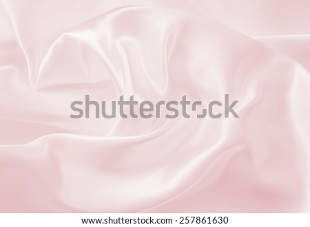 Smooth elegant pink silk can use as wedding background  - stock photo