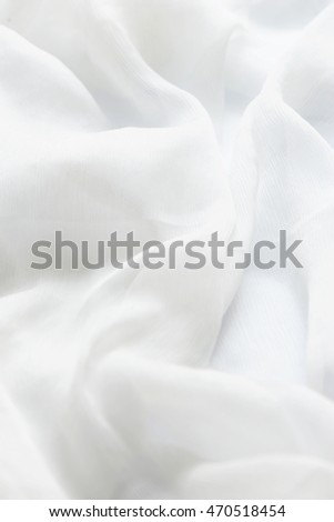 Smooth elegant white fabric as wedding background