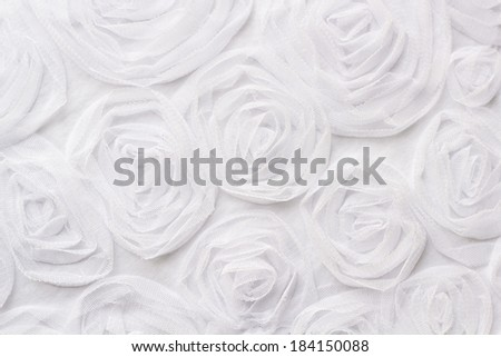 Smooth elegant white silk can use as fabric background - stock photo