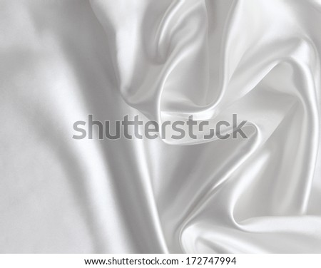 Smooth elegant white silk can use as wedding background