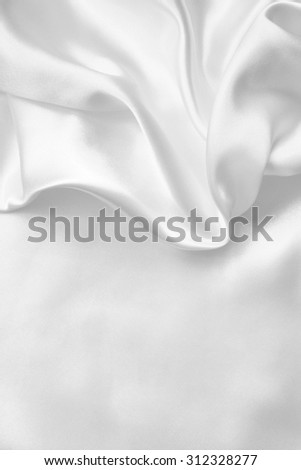 Smooth elegant white silk or satin can use as wedding background