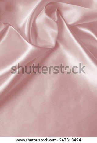 Smooth pink silk can use as wedding background - stock photo