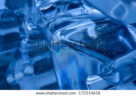 Smooth rounded shaped ice background