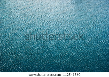 smooth water big surface of blue color - stock photo