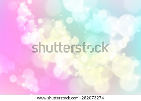 smooth white blurred bokeh on colorful background for digital design