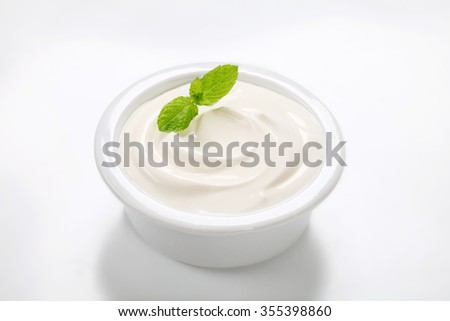 smooth white cream in a bowl