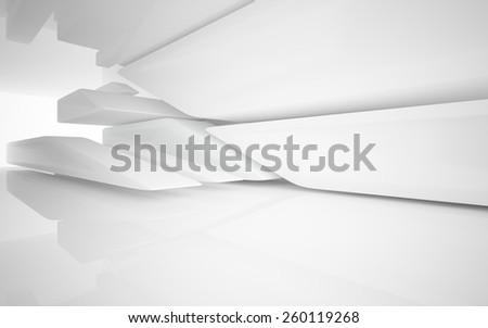 Smooth white interior - stock photo