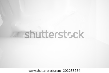 smooth white interior.3D illustration. 3D rendering  - stock photo