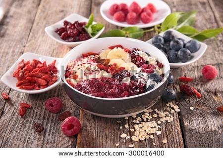 smoothie bowl - stock photo