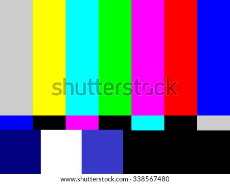 SMPTE color bars television test pattern  - stock photo