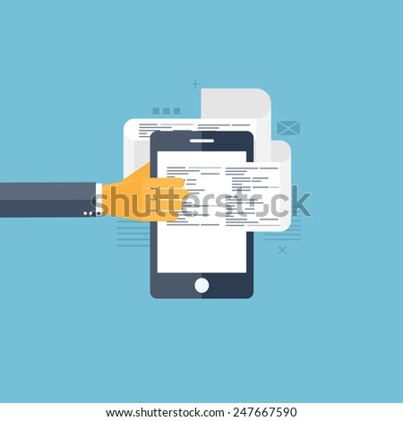 Sms. Communication. Social network. Smartphone. - stock photo