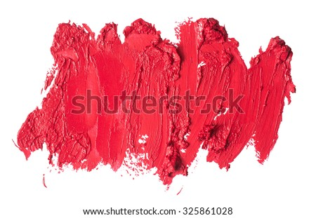 Smudged lipstick abstract texture - stock photo