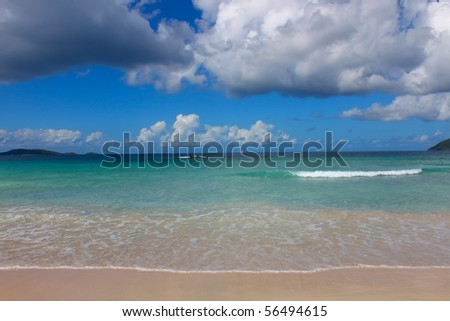 Smugglers Cove Beach on Tortola - British Virgin Islands. - stock photo