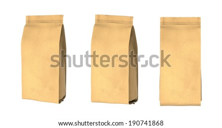 Snack package cardboard.Packing for the isolation of the product. Easy editable for your design. - stock photo