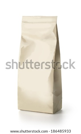 Snack package. Packing for the isolation of the product on a white background with clipping path