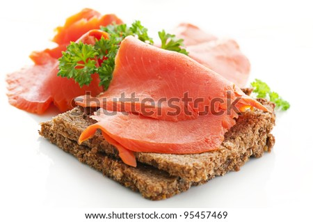 snack with wild salmon