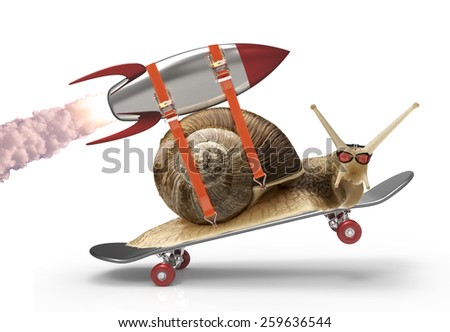 snail with speed