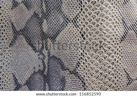 Snake skin pattern use for background - stock photo