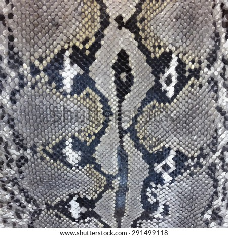 Snake skin python pattern textile texture. Reptile fabric natural animal design - stock photo