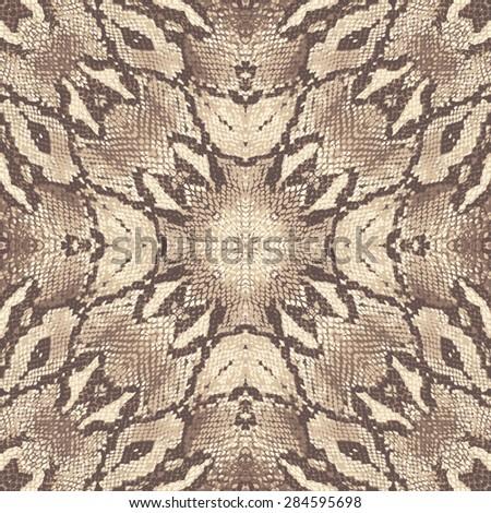 snake skin seamless background - stock photo