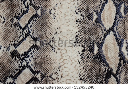 Snakeskin fabric - stock photo