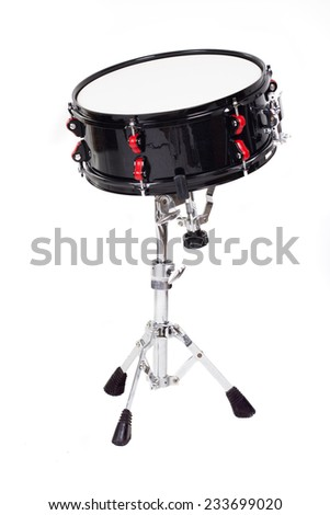 Snare drum  isolated on a white - stock photo