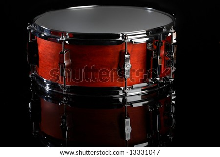 snare drum on black