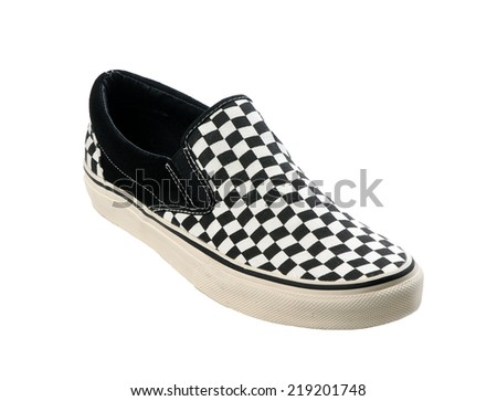 Sneaker Black And White - stock photo