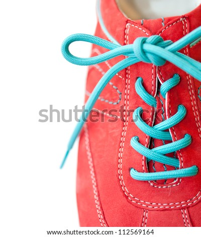 Sneaker with lace - stock photo