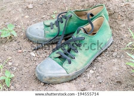 Sneakers - canvas shoes - stock photo